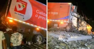 Camión se accidentó en Tasajera, pero esta vez se comportaron a la altura y lo ayudaron 1