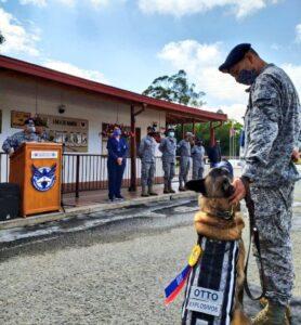 Con honores fue despedido Otto, un canino antiexplosivos 1