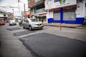 En tiempo récord, la Administración Municipal intervino la carrera Primera de Ibagué 1