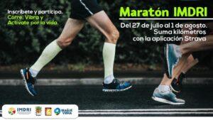 Imdri invita a maratón virtual a través de la aplicación Strava 1