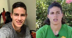 La misma cara: Arquera se volvió famosa por su gran parecido con James Rodríguez 1