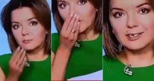 Presentadora de noticias se quedó mueca en directo y en vez de reírse, la aplaudieron 1