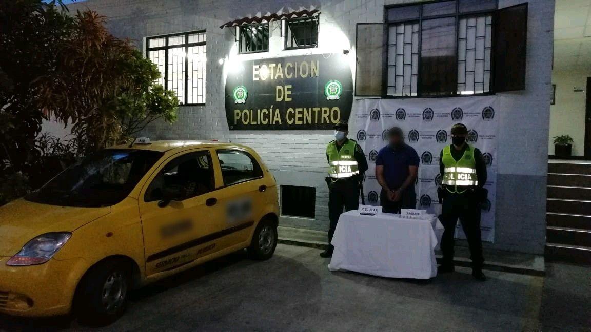 Taxista fue capturado en Vasconia Reservado por droga debajo de su asiento 4