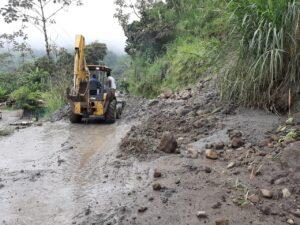 Lluvias ocasionaron deslizamiento en el sector de La Vega - 1