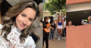 Daniella Álvarez le llevó serenata a sus abuelos 1