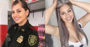 Mujer policía lució su uniorme y le admiran el cuerpo 1