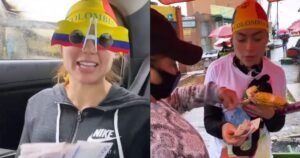 Daneidy Barrera repartió 1 millón de pesos a vendedores ambulantes 1