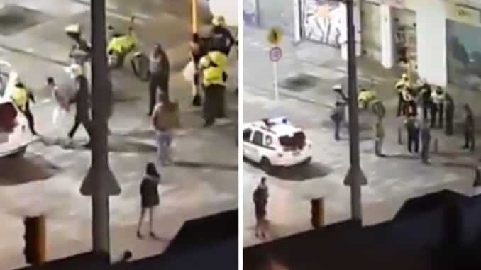 Abuso policial con taser en Bogotá