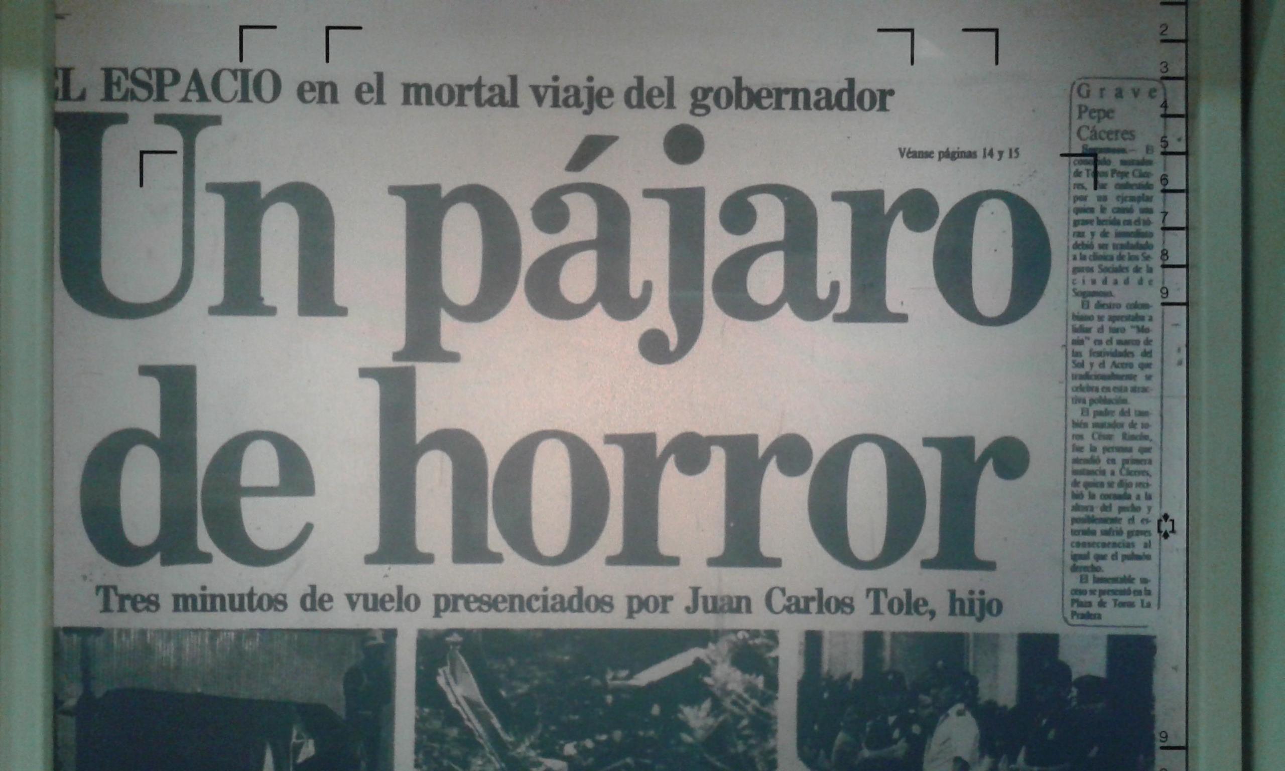 El día que murió un gobernador del Tolima en ejercicio 2