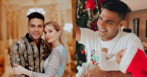 Falcao y Lorelei presumieron sus dos árboles de Navidad 1