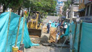 Se adelantan trabajos en la red de alcantarillado de la avenida Guabinal - 1
