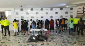 21 personas fueron capturados por tráfico de estupefacientes en Ibagué 1