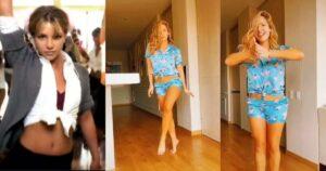 Kimberly Reyes trató de imitar a Britney Spears bailando 1
