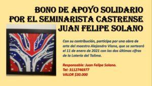 Obra social en pro del seminarista y periodista Juan Felipe Solano 1