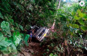 Ocho heridos dejó la caída de un campero a un abismo entre San Bernardo y San Juan de la China 1