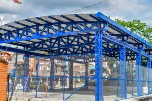 Alcaldía de Ibagué construyó cubierta en el polideportivo del barrio Pedregal - 1
