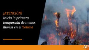 Inicia la primera temporada de menos lluvias en el Tolima 1