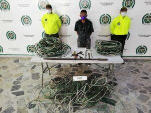 Sujeto fue capturado cuando robaba cables del estadio Manuel Murillo Toro 1