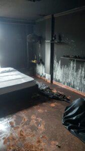 Pérdidas materiales dejó incendio en tercer piso de casa en barrio Piedra Pintada 1