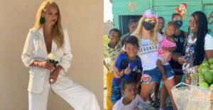 Johana Bahamón regaló útiles escolares a niños en Cartagena 1