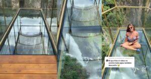 Crearon mirador de cristal sobre una cascada en Colombia 1