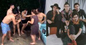 Rolos se hicieron virales por cantar borrachos música pop 1
