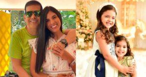 La 'Tata' Becerra le puso el mismo traje de baño a sus hijas 1