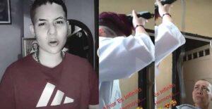 Joven se rapó el cabello para poyar a su madre 1