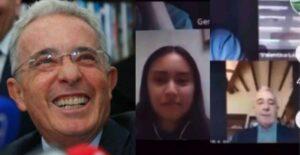 Joven se viralizó por su reacción al ver a Uribe en su clase 1