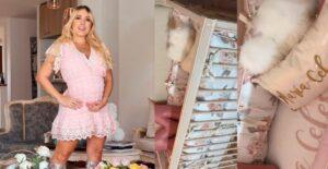 Katerin Peláez alardeó la sofisticada habitación de su bebé 1