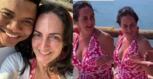 María Fernanda Cabal dejó que un joven le aplicara protector solar 1