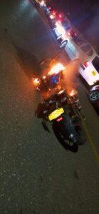 Vecinos de Piedra Pintada quemaron la moto de un 'caco' 1