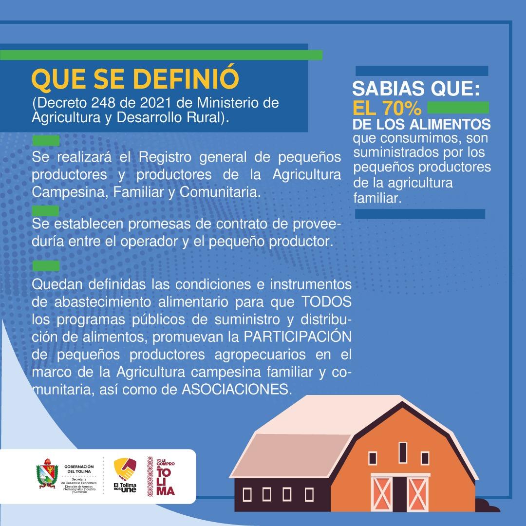 Pequeños y medianos productores agropecuarios pueden hacer parte del Programa de Compras Públicas Locales 2