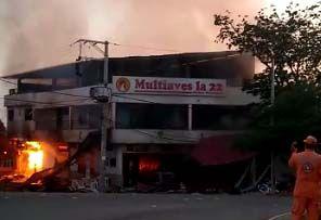 Fotos y video: Explosión de asadero de Purificación dejó cuatro heridos 1