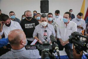 Por intervención de gobernadores de Tolima y Caldas se levantó bloqueos en la vía nacional Fresno-Manizales. 1