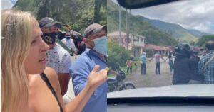 Elizabeth Loaiza enfrentó a manifestantes que le bloquearon la vía 1