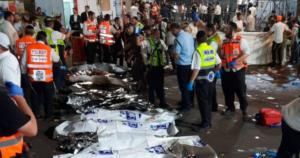 En Israel una estampida dejó a 45 personas fallecidas 1