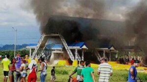 En total, 27 peajes fueron atacados en las jornadas de protestas 1