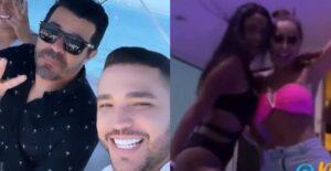 Jessi Uribe y Piter Albeiro presumieron a sus novias en yate 1