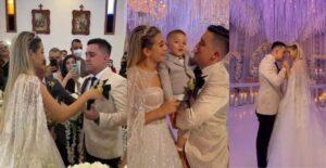 'El Rey de las Extensiones' se casó y reaccionó en llanto al recibir a su esposa 1