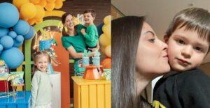 Laura Acuña optó por fiesta acuática para el cumple de su hijo 1