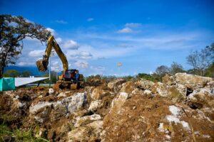 Avanzan las labores de excavación para la construcción del Tejódromo 1
