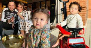 Fátima, hija de Paula Andrea Betancur, modela su cabellera crespa 12
