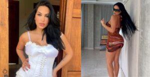 Andrea Valdiri sacó atrevimiento con vestido de aberturas, sin ropa interior 1